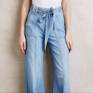 7 For All Mankind High Rise Palazzo Jeans Size 25